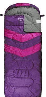 Gold Armour Sleeping Bag Purple Right Zipper