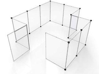 Tespo DIY Animal Playpen   12 Panels   White