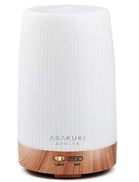 Asakuki Portable 100ml Essential Oil Diffuser and Auto Off Safety Switch