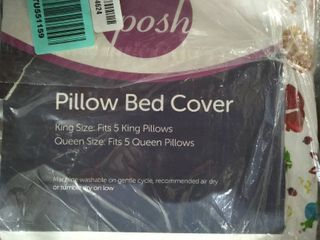 Posh Pillow Bed Cover King Size Fits 5 King Pillows   Queen Size  Fits 5 Queen Pillows