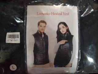 loowoko Mens lightweight Heated Vest  l  Black