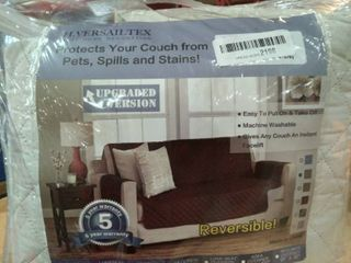 H  Versailtex Reversible Couch Cover  75  x 110  Grey