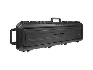 Plano PlA118521 All Weather Double Gun Case 53 5  x 17  x 7   Exterior  Polymer Black