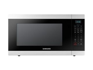 Samsung 1 9 Cu Ft  23 6  W x 13 3  H x 18 4  D  Microwave   Stainless Steel