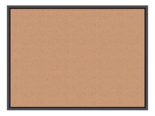 U Brands Cork Bulletin Board  48  x 36  Black Aluminum Frame