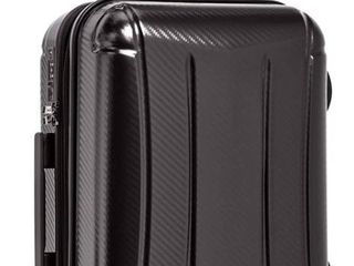 AmazonBasics Oxford Carry On Expandable Spinner luggage Suitcase with TSA lock   21 8 Inch   Glossy Black