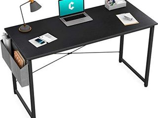 Cubiker Computer Desk   40  Home Office Study Desk   Modern Simple Style with Side Storage Bag  Black