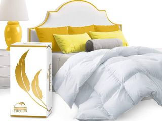 Cucuun Real luxury Down Comforter Queen Size   100  Egyptian Cotton   1200 Thread Count