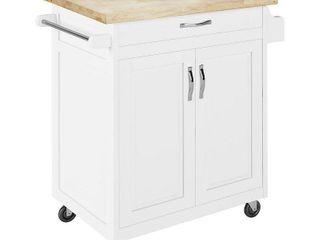 Dorel living DA6545W Kitchen Island   Carts  White