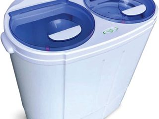 Garatic Portable Compact Mini Twin Tub Washing Machine W wash And Spin Cycle Powers On Appears To Work As It Should