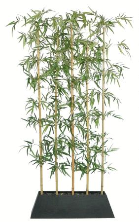 laura Ashley 8 ft  Silk Bamboo Tree Screen w Wood Planter