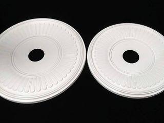 lot of 2 Berkshire Thermoformed PVC Ceiling Medallions 19    22  Outer Diameter  Both   3 5   Inner Diameter x 1