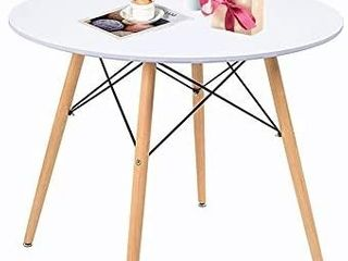 Round Table White Kitchen Dining Table White Dining Room Table Modern Style Round leisure Coffee Table