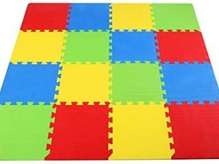 BalanceFrom Kid s Puzzle Exercise Play Mat with EVA Foam Interlocking Tiles 6 With Animals