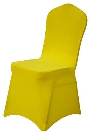 Gelozed 20 PCS Yellow Spandex Dining Room Chair Covers