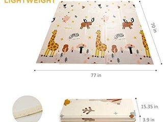 beiens Baby Play Mat  Portable Folding Extra large Baby Crawling Mat