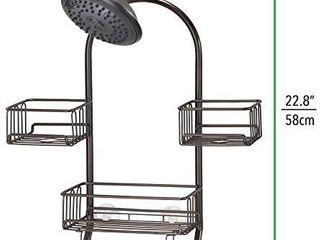 mDesign Modern Metal Wire Bathroom Tub   Shower Caddy