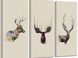 VIIVEI Elk Deer Cabin Decor Canvas Prints