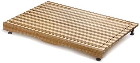 Prosumeras Choice Bamboo Stovetop Cover and Countertop Cutting Board w Adjustable leg