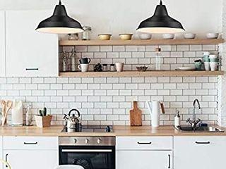 lOEHINlE Pendant lighting  Farmhouse Metal Industrial Vintage Hanging Ceiling  Black  for Kitchen Home light
