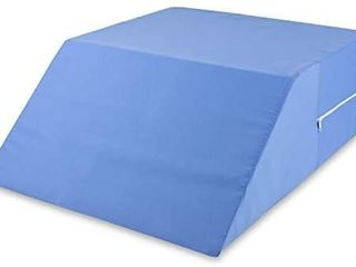 DMI Bed Wedge Ortho Pillow for leg Elevation  Sciatica  Pregnancy  Back or Hip Pain  24 x 20 x 8  Blue