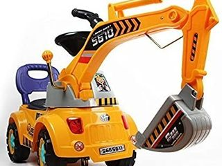 Digger Scooter  Ride on Excavator  Pulling cart  Pretend Play Construction Truck  Color May Vary  by POCO DIVO