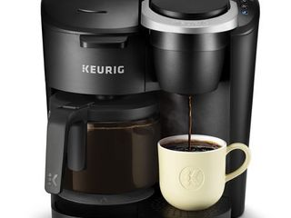 Keurig K Duo Essentials Coffee Maker  with Single Serve K Cup Pod and 12 Cup Carafe Brewer  Black