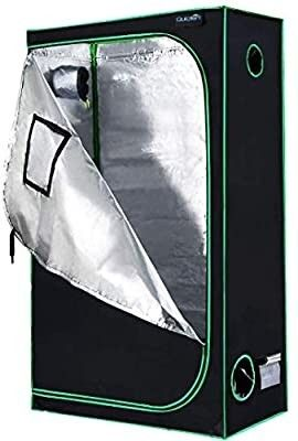 Quictent SGS Approved Eco Friendly 48 x24 x84  Reflective Mylar Hydroponic Grow Tent with Heavy Duty Anti Burst Zipper and Waterproof Floor Tray for Indoor Plant Growing 4ax2