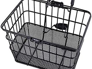 Ohuhu Bike Basket Rust Proof Quick Release Front Handlebar Bicycle lift Off Baskets with Holder  Mesh Bottom