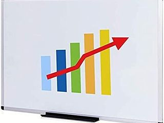 VIZ PRO Magnetic Whiteboard Dry Erase Board  48 X 36 Inches