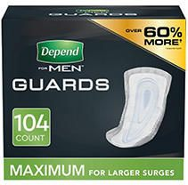 Depend Guards for Men   Maximum Absorbency   104ct