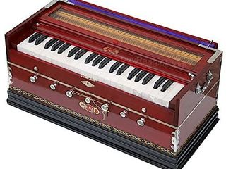 Harmonium  BINA No  9A  In USA  7 Stops  3 1 2 Octaves  Rosewood Color  Coupler  Special Double Reeds  Bag  Book  Indian Musical Instrument  GSB BCB