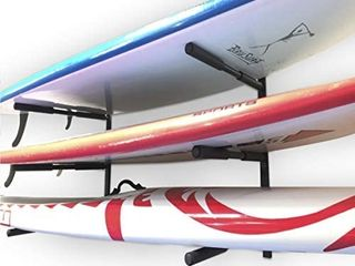 EasyGoProducts EGP SURF 006 SUP and Surf 3 level Wall Storage for Garage or Room Paddle Board and longboard Racks