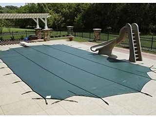 Arctic Armor Mesh Rectangular Safety Cover for 16ft x 32ft In Ground Pools with 12 Year Warranty Color  Blue  WS330BU