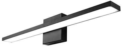 Ralbay 24 inch Dimmable Black lED Modern Vanity light 24W Frosted Aluminum for Bathroom Vanity lighting Fixtures Cool White 6000K