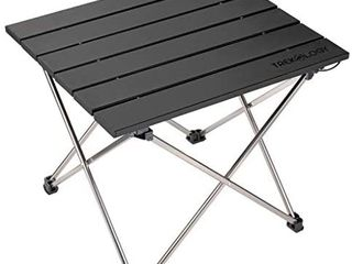 Small Folding Camping Table Portable Beach Table   Collapsible Foldable Picnic Table in a Bag   Mini Aluminum Side Table lightweight Camp Tables for Outdoor Cooking  Backpacking  RV Fold  Travel