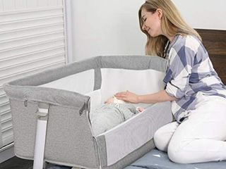 Baby Bassinet RONBEI Bedside Sleeper Baby Bed to Bed Babies Crib Bed
