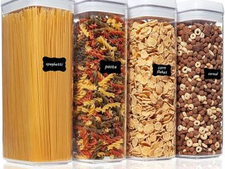 Vtopmart Airtight Food Storage Container  With labels And Measuring Cups