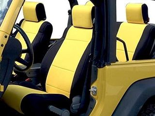 GEARFlAG Neoprene Seat Cover Custom fits Wrangler 2007 2017 JK Unlimited 4 Door with Side Airbag Opening Full Set