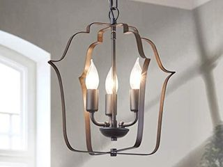 3 light Farmhouse Entryway light Fixtures  Rustic Chandelier with Oil Rubbed Bronze Finish