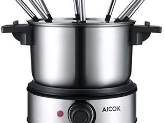 Aicok Electric Fondue Pot Set Stainless Steel Fondue Maker