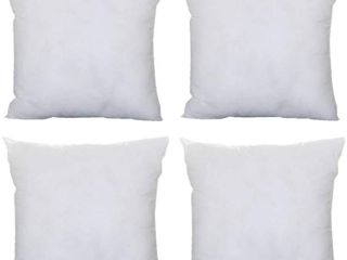 Throw Pillow Inserts 20x20 Inch 4 Pack Square Cushion Sham Form Stuffer Fillers