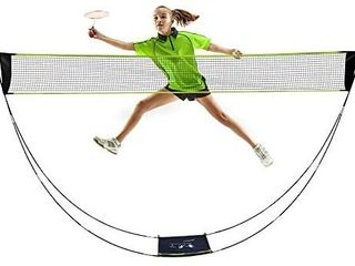 AmazeFan Portable Badminton Net Set with Stand   Carrying Bag  Folding Volleyball Tennis Badminton Net