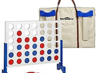 Win SPORTS Giant Wooden 4 in A Row a Four Connect Board Game Set in White