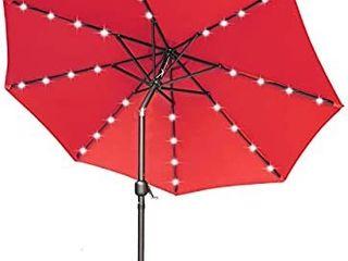 9FT Patio Umbrella Ourdoor Solar Umbrella lED Umbrellas with 32lED lights