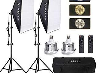 PHOPIK Softbox lighting Kit
