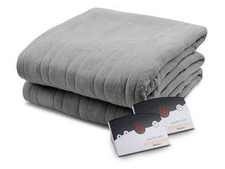 Biddeford 1003 9052106 902 Comfort Knit Fleece Electric Heated Blanket Queen