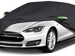 Car Cover Waterproof All Weather Outdoor Car Covers UV Protection Windproof Black Full Car Cover unknown size
