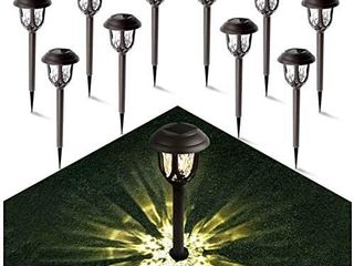 Solar lights Outdoor Pathway   Gichies Solar lights Outdoor Solar Graden light Waterproof Solar lights Outdoor for Pathway Walkway Garden Yard landscape Patio 12 Pack  Warm White