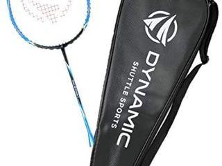 Dynamic Shuttle Sports Titan G Force 7 Professional Carbon Fiber Badminton Racquet  lightweight Badminton Racket Including Cover